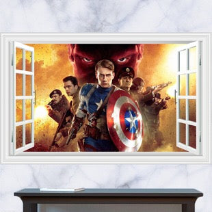 Marvel Captain America Wall Stickers