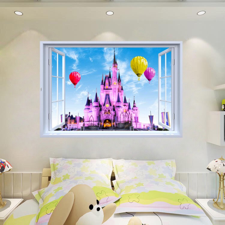 disney castle wall stickers – the treasure thrift