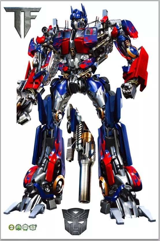 Transformers Optimus Prime Wall Stickers