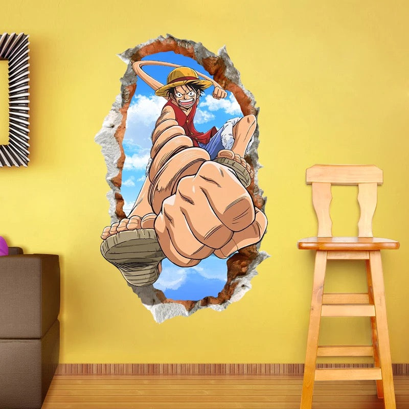 One Piece Monkey D. Luffy Wall Decals
