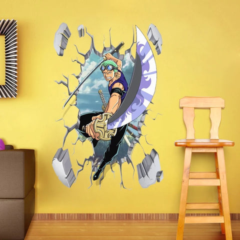 One Piece Roronoa Zoro Wall Stickers