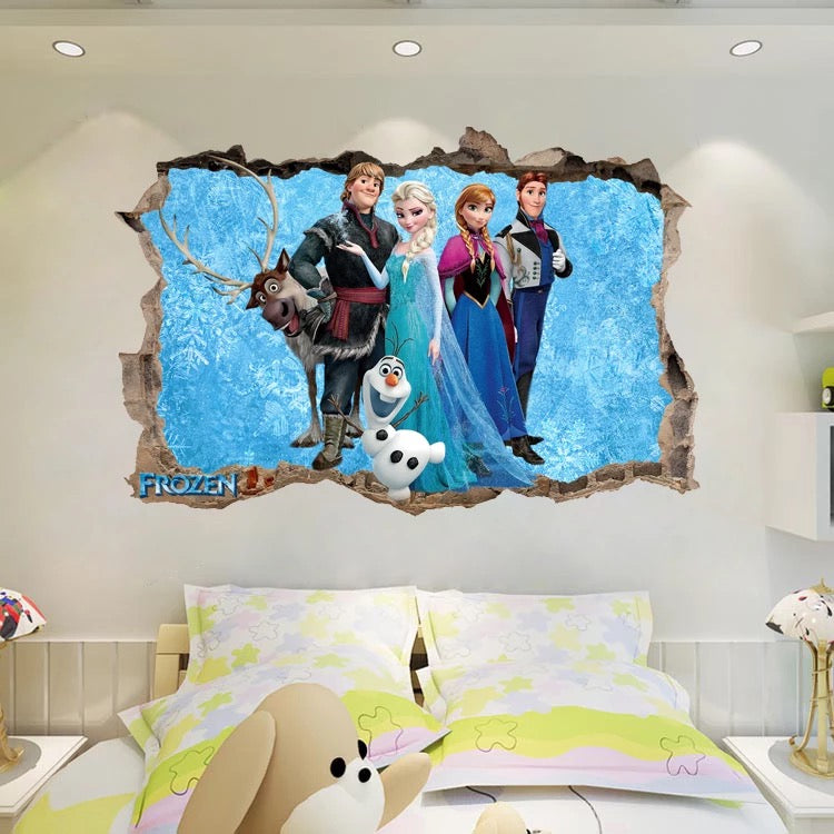 Exceptional Disney Frozen Characters Wall Stickers