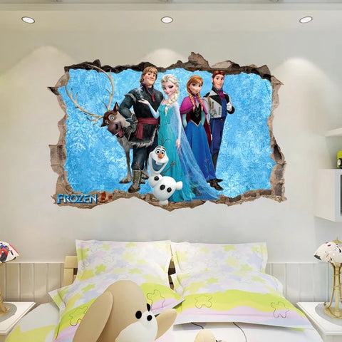 Disney Frozen Characters Wall Stickers
