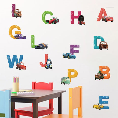 Disney Cars Alphabet Wall Decals