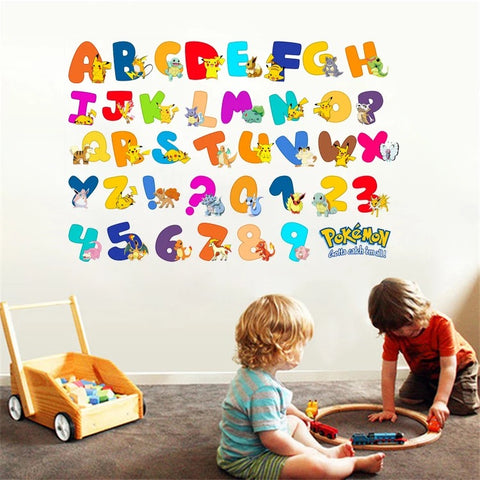 Pokémon Alphabet Wall Decal
