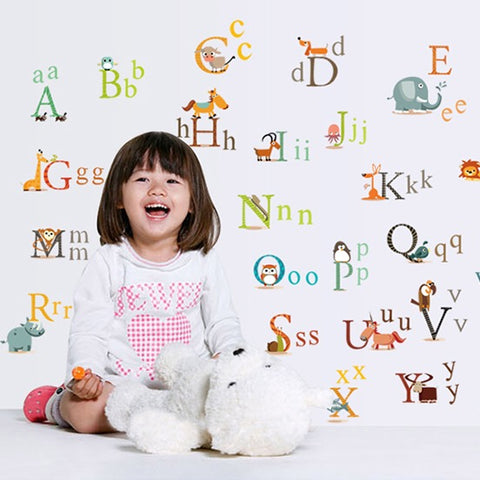 Alphabet Kid's Educational Wall Stickers