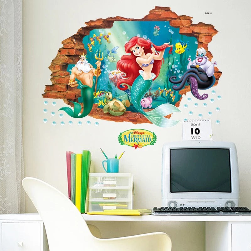 Disney The Little Mermaid Wall Stickers