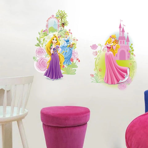 Disney Princess Cinderella Rapunzel Wall Stickers