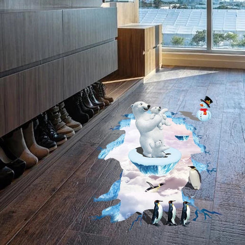 3D Wall Decals-Polar Bear