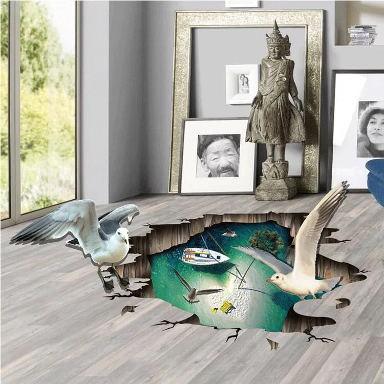 3D Wall Stickers-Seagull