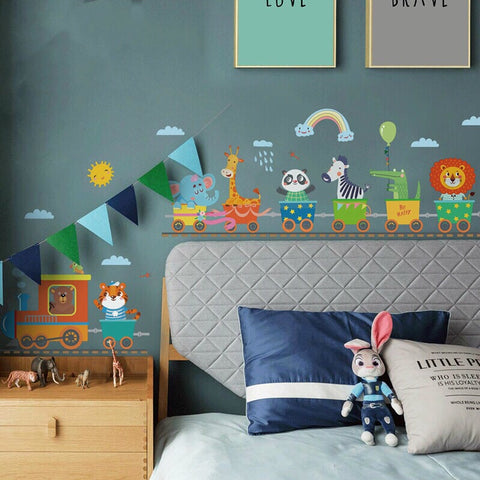 Animal Train - Peel and Stick Wall Sticker