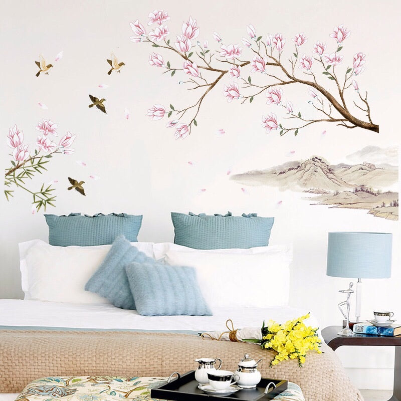 Magnolia Flowers Wall Decals