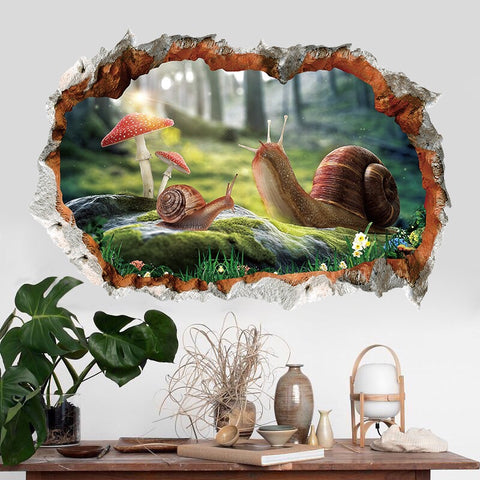 3D Wall Decals-Snail