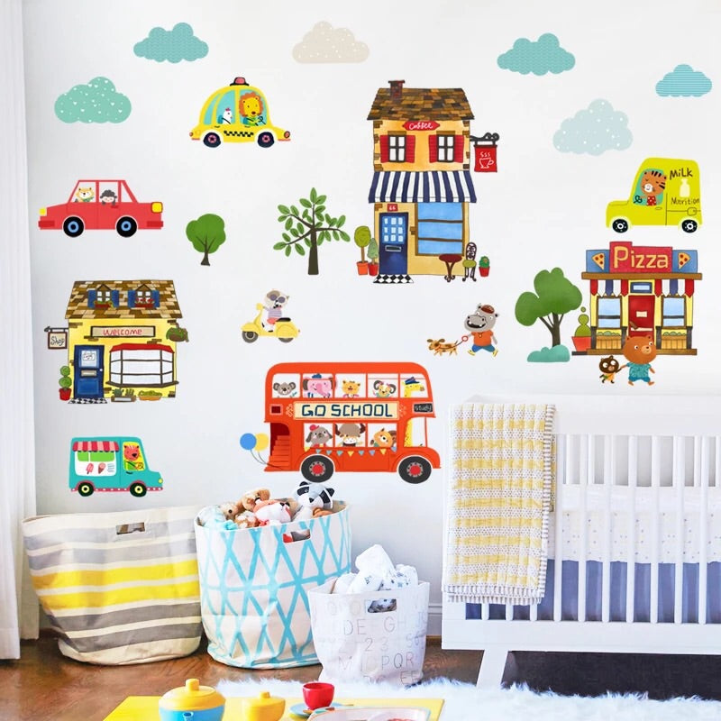 Transportation Theme Fabric Wall Decals
