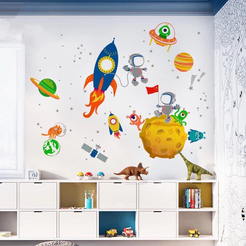 Outer Space Nursery Wall Decals