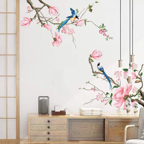 Branches And Birds Wall Stickers