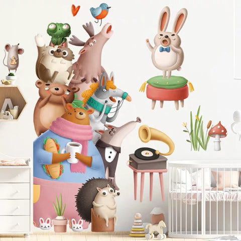 Animals Wall Decals For Nursery