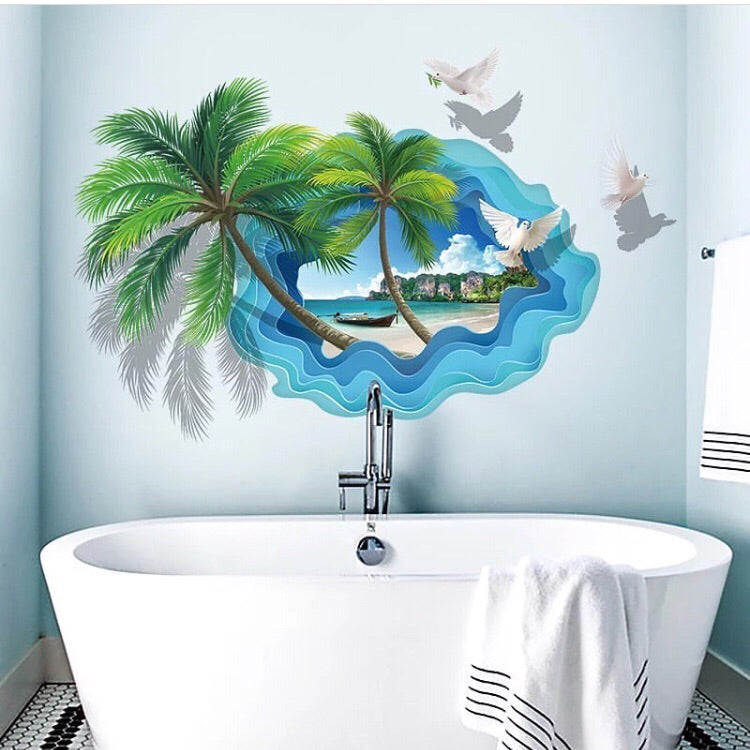 Coconut Tree Wall Decals