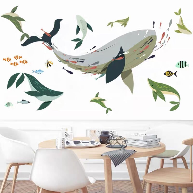 Whale Wall Decals/ Wall Stickers For Baby Nursery