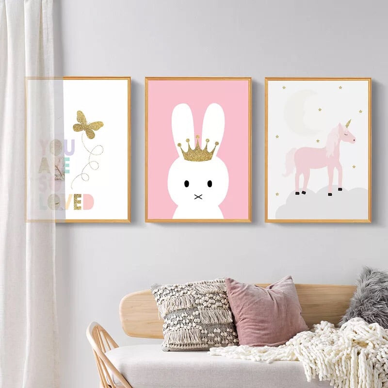 Unicorn Wall Decals-Nursery Wall Decals