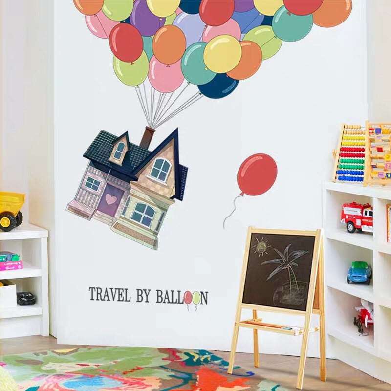 Travel By Balloon Wall Decals