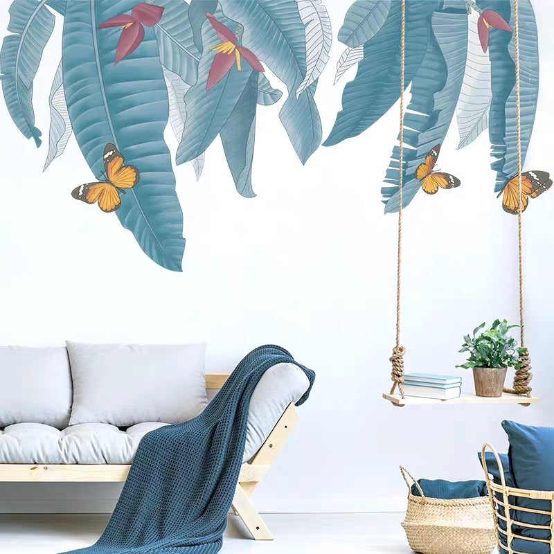Banana Leaves Wall Stickers