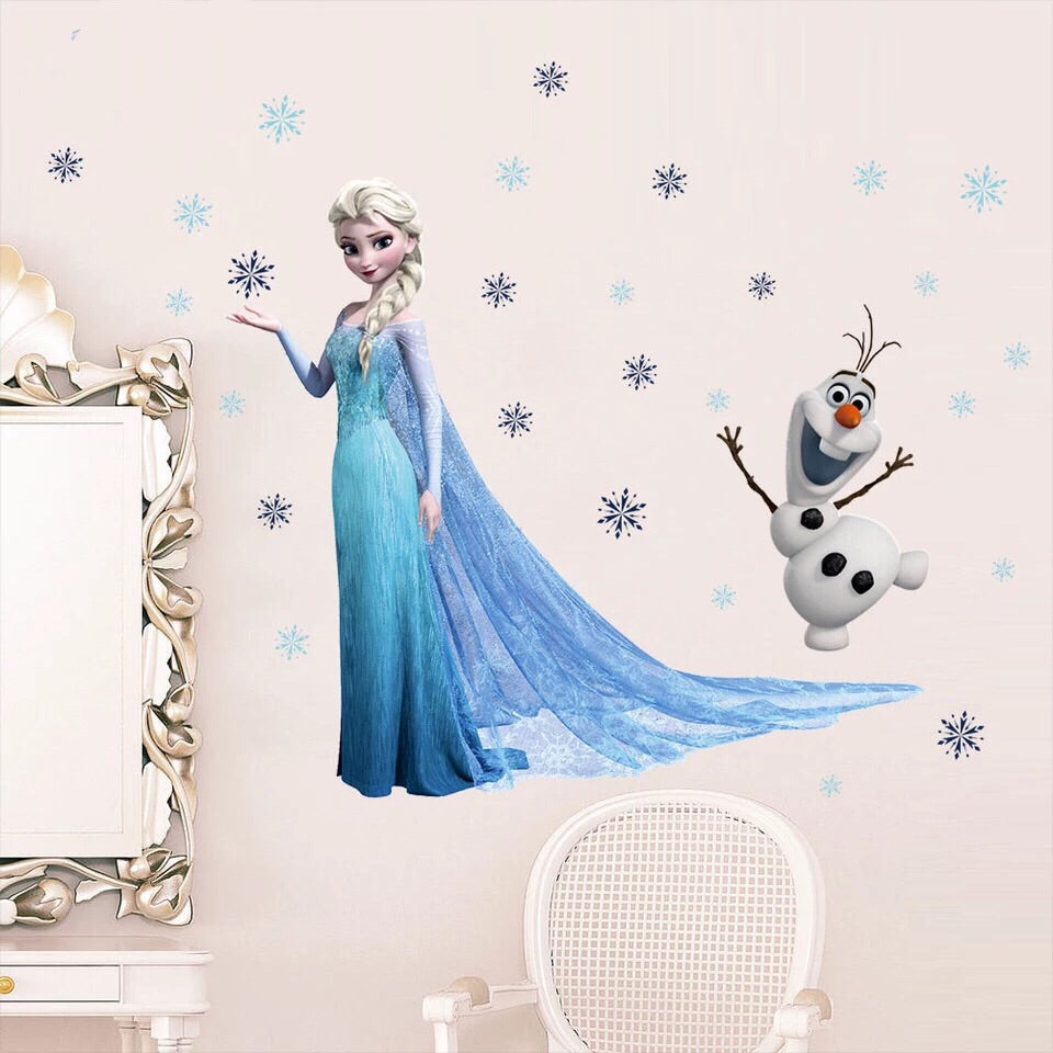 Frozen Elsa & Olaf Wall Decals