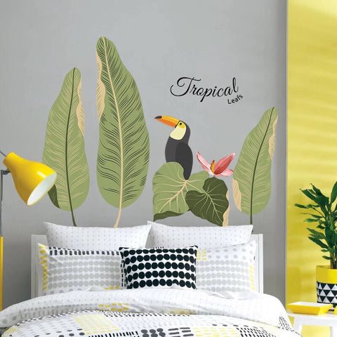 Tropical Leaves Wall Decals