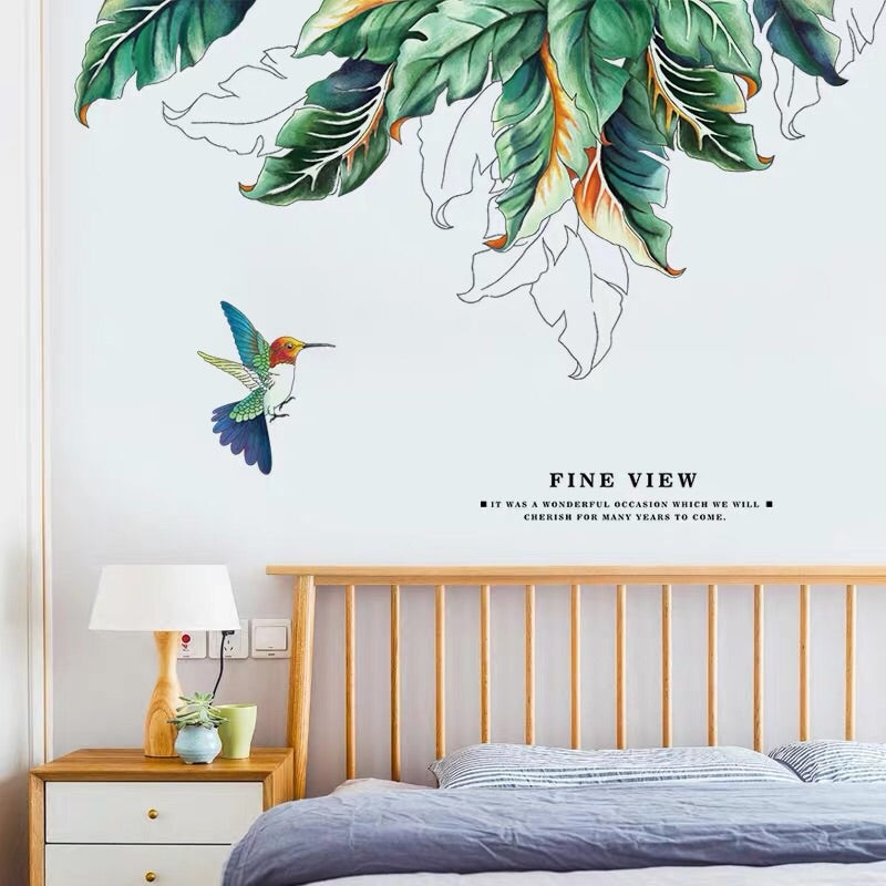 Green Leaf  Wall Stickers