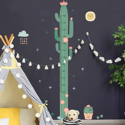 Cactus Height Chart Wall Decals