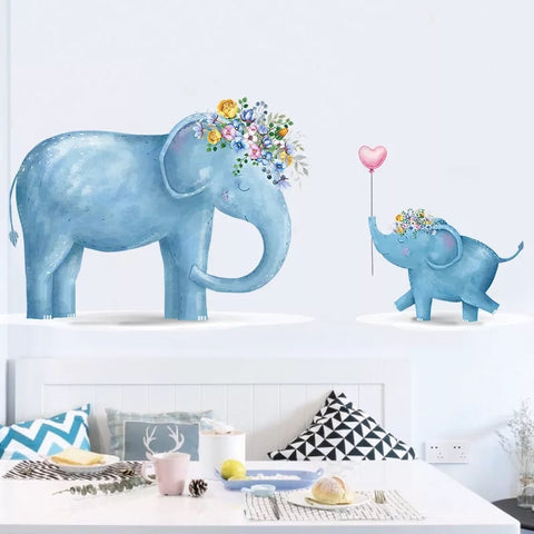 Small Elephant Wall Decal For Nursery