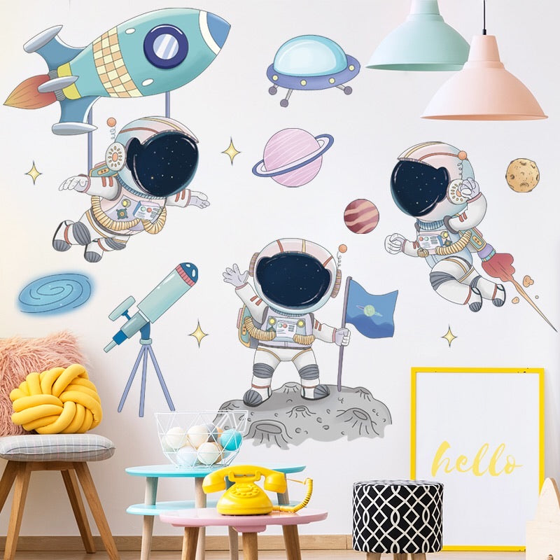 Outer Space Wall Decals For kids' Bedroom