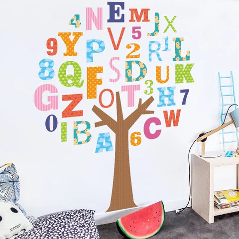 Alphabet Tree Wall Decals