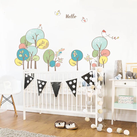 Woodland Wall Decals-Nursery Wall Decals
