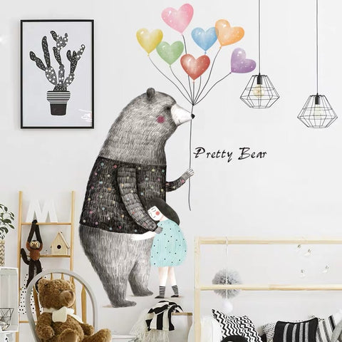 Pretty Bear Nursery Wall Decals