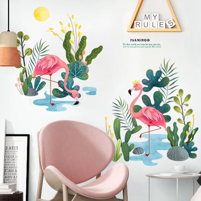 Flamingo Wall Decals-Wall Stickers