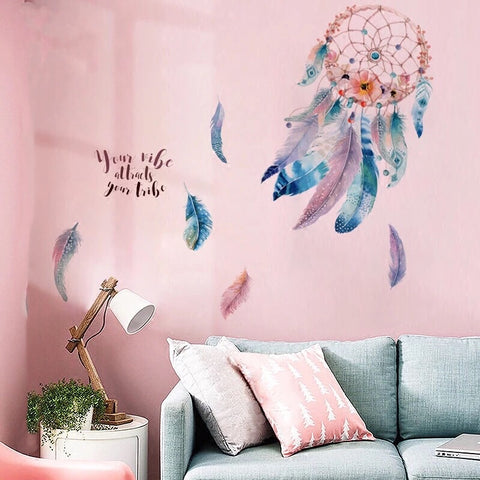 Dream Catcher Wall decals-Feathers Wall Decals