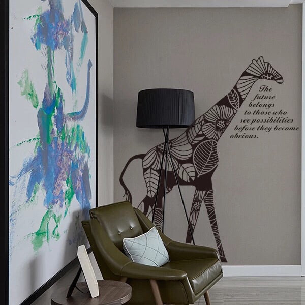 Large Giraffe Wall Decal