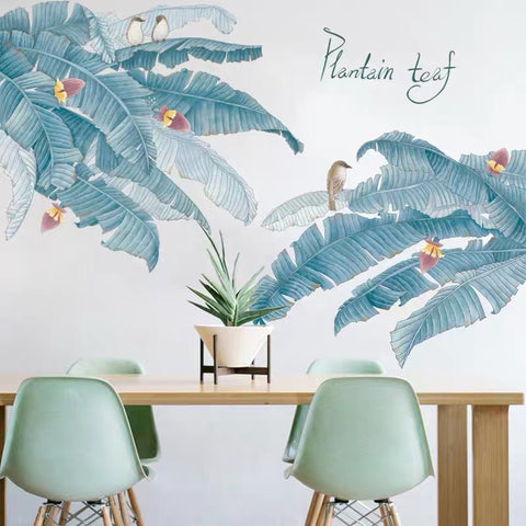 Plantain Leaves Wall Decals