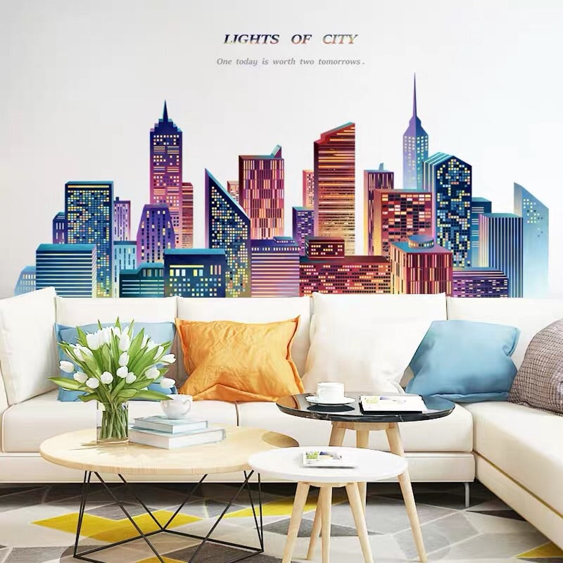Light Of City Wall Decals