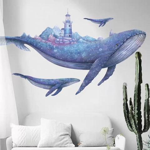 The Whale Wall Decals