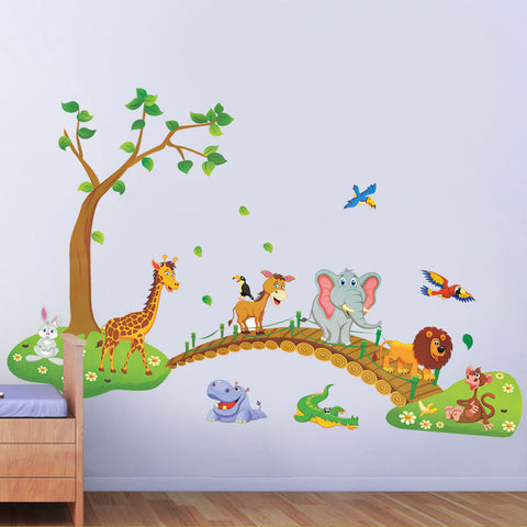 Animals Bridge Wall Decal
