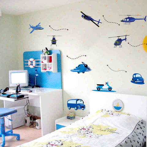 Plane Car Wall Decals