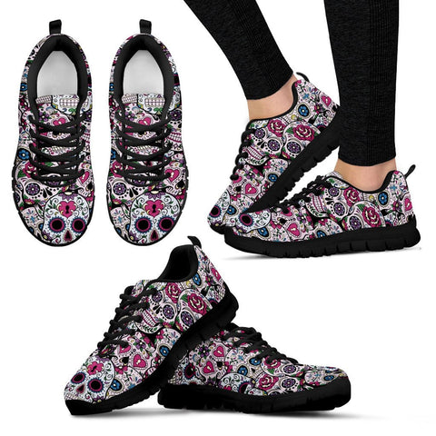 SUGAR SKULL SNEAKERS - WOMEN'S