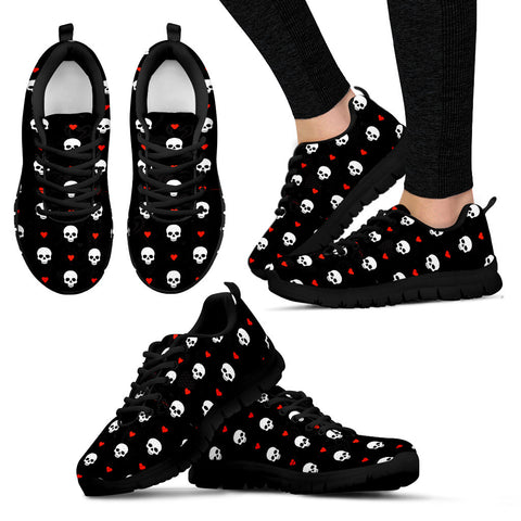 SKULLS AND HEARTS SNEAKERS - WOMEN'S