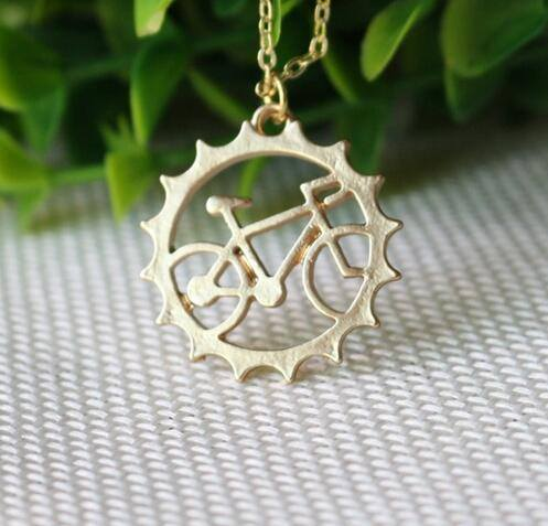 Bicycle pendant necklace