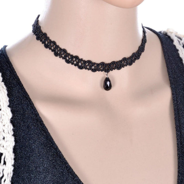 Gothic Tassel Lace Necklace