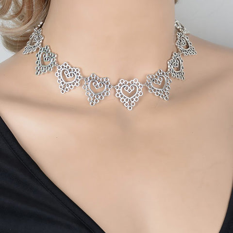 Silver Plated Choker Necklace