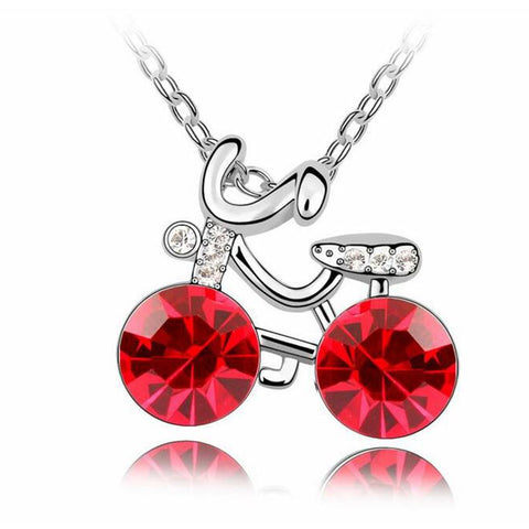 Cycling Crystal Pendants Necklace