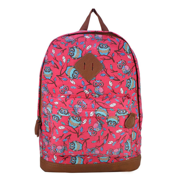 Chici Retro Canvas Backpack